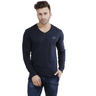 Flicker Hoods Navy Slim Fit Polo T Shirt