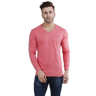 Flicker Hoods Peach Slim Fit Polo T Shirt
