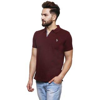 Flicker Hoods Red Regular Fit Polo T Shirt