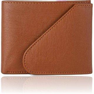Macberry Tan PU leather Bi-fold Wallets for Men's