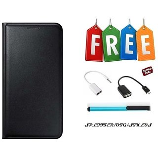 Flip Cover Case For Gionee X1s With Free OTG Cable, Stylus and Audio Splitter