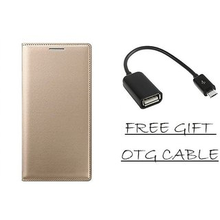 Gionee X1s Flip Cover Case With Free OTG Cable