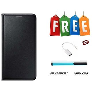 Flip Cover Case For Gionee X1s With Free Stylus and Audio Splitter Cable