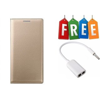 Gionee X1s Flip Cover Case With Free Audio Splitter Cable