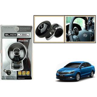 Autonity Black Label Car Steering Wheel Powerless Spinner Knob - Black For Skoda Rapid