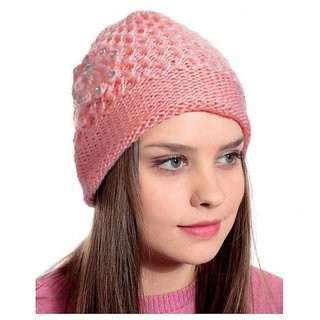 Buy Nandini Girls Woolen Cap for winter Collection Online - Get 43% Off 7d57846b4ac