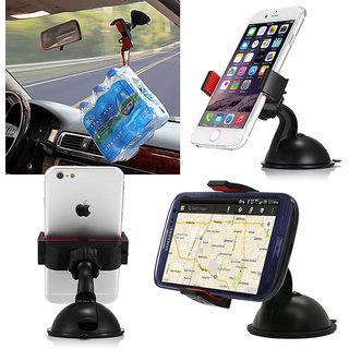 Branded Car Mobile Holder Mount Bracket Holder Stand 360 Degree Rotating - Assorted Color