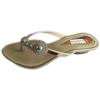b201a23e0f0de0 Cierto Estilo Fashion Sandals for Ladies party wear wedding casual silver  Gold