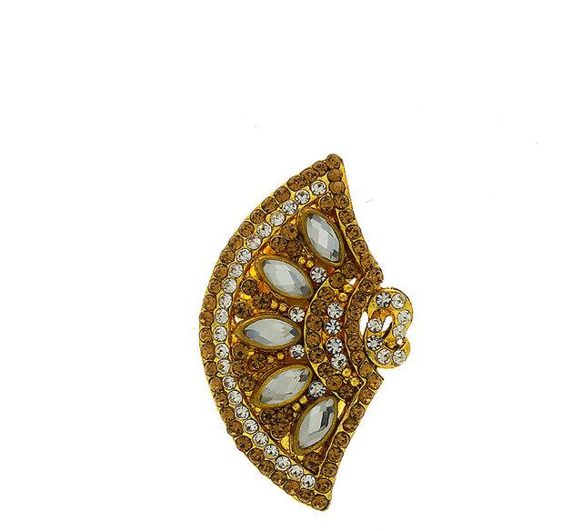 Anuradha Art Gold Finish Designer Classy Traditional Saree Pin for Women//Girls