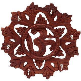 Wooden H@ndmade Key Holder Wheel OM Design 8 inch