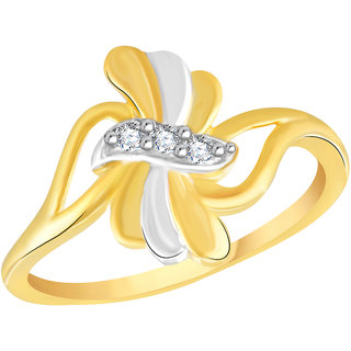 VK Jewels Aaditri Gold and Rhodium Plated Alloy Ring for Women & Girls Made With Cubic Zirconia- FR2602G [VKFR2602G8]