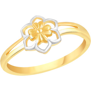 VK Jewels Simpal FLower Gold and Rhodium Plated Alloy Ring for Women & Girls [VKFR2587G8]