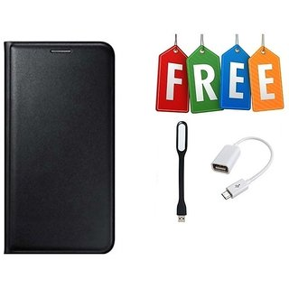 Flip Cover Case For Samsung Z4 With Free OTG Cable & LED Light