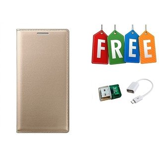 Flip Cover Case For Samsung Z4 With Free Card Reader and OTG Cable