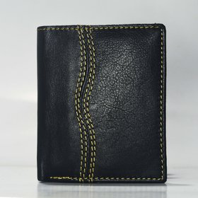 SS Classic Black Genuine Leather Wallet