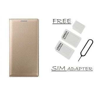 Flip Cover Case For Samsung Galaxy J2(2016) With Free Sim Adapter