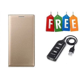 Flip Cover Case For Samsung Galaxy J2(2016) With Free USB Hub