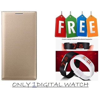 Flip Cover Case For Samsung Galaxy J2(2016) With Free Unisex LED Digital Watch