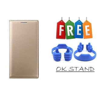 Flip Cover Case For Samsung Galaxy J2(2016) With Free Mobile Stand