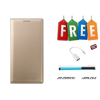 Flip Cover Case For Samsung Galaxy J2(2016) With Free Stylus and Audio Splitter Cable