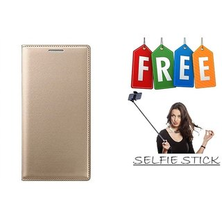 Flip Cover Case For Samsung Galaxy J2(2016) With Free Selfie Stick