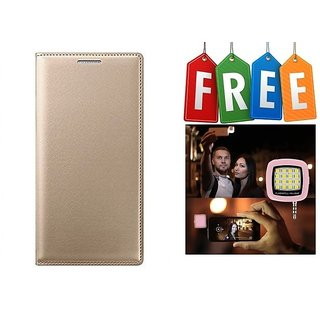 Flip Cover Case For Samsung Galaxy J2(2016) With Free Selfie Flash