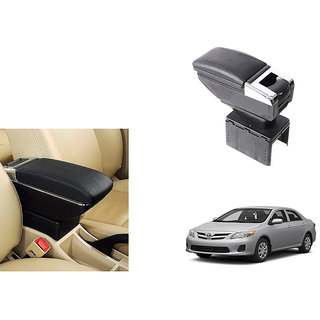 Autonity Car Stylish Armrest with Glass Holder+Ashtray Black For Toyota Corolla