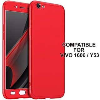 sale retailer 28f65 314fe MOBIMON 360 Degree Full Body Protection Front Back Case Cover (iPaky Style)  with Tempered Glass for VIVO Y53 (Red)