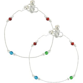 Stunning Beaded Multi color Crystal Anklets