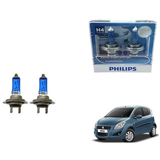 Autonity Philips H4 4300k Car Crystal Vision Headlight Bulbs Set Of 2 For Maruti Ritz