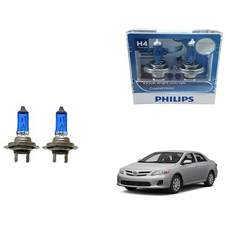 Autonity Philips H4 4300k Car Crystal Vision Headlight Bulbs Set Of 2 For Toyota Corolla
