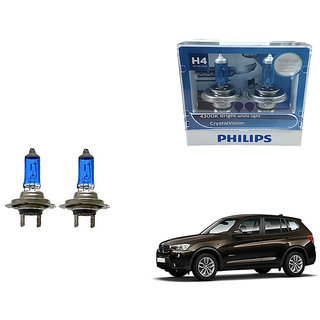 Autonity Philips H4 4300k Car Crystal Vision Headlight Bulbs Set Of 2 For BMW X3