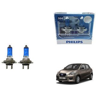 Autonity Philips H4 4300k Car Crystal Vision Headlight Bulbs Set Of 2 For Datsun Go