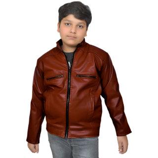 Buy Pari Prince Kids Brown Leather Jacket Online Get 46 Off