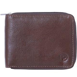 Posshusa Leather Brown Casual Regular Wallet