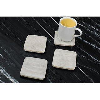 Organic Beige Marble Coasters