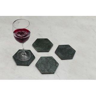 Organic Green Marble  Coasters