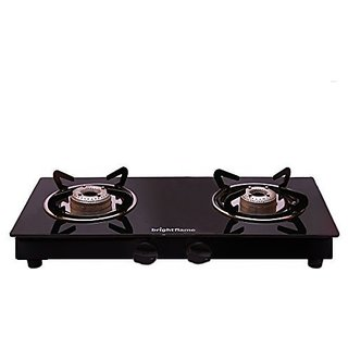 2 Burner Glass Top Gas Stove Compact Z-Black
