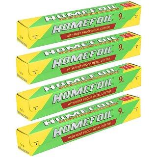 Homefoil Food Wrap Aluminium Foil 9 MTR Pack of 4