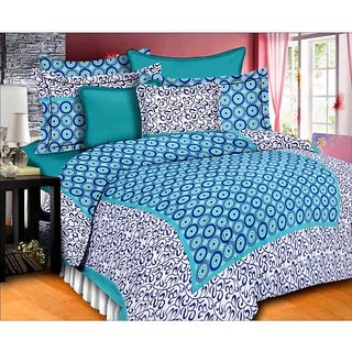 Unique Choice 100% Cotton King Size Bedsheet with 2 Pillow Covers