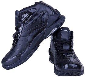 Nivia Men'S Black Lace-Up Basketball Shoes