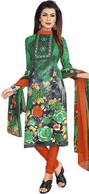 Drapes womens Multicolor Crepe Printed Dress Material (UnStitched) DF1890