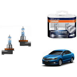 Autonity Osram H1 5000K Car Night Breaker Unlimited Bulbs for Skoda Rapid Type 2