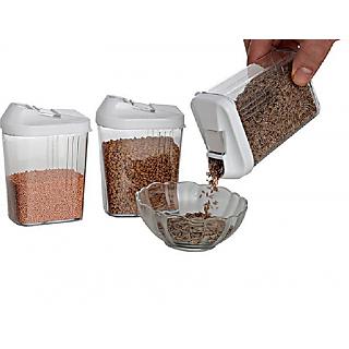 Nueva Kitchen Storage Easy Flow Jar Slide Open Container 3 Pieces 250 ml