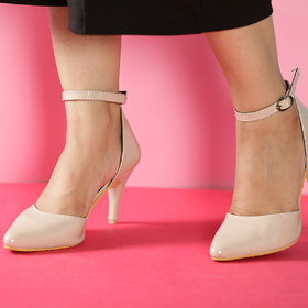 Msc Women'S Cream Platform Heel