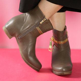 524df5e7d408 TEN Ravishing Womens Khaki Mid Length Boots