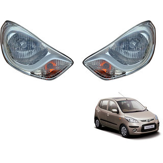 Autonity Car Crystal Headlight Assembly SET OF 2- Hyundai i10 2010