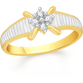 VK Jewels Glorious Gold and Rhodium Plated Alloy Ring for Women & Girls Made With Cubic Zirconia- FR2193G [VKFR2193G8]