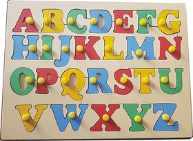 ABC WOODEN PUZZLE FOR KIDS TO LEARN THE ALPHABETS .
