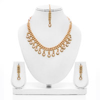 Senorita Traditional Necklace Set PS0016 With Pearls And Antique Finishing
